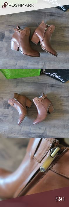 Sam Edelman Melody Ankle Boot 6 Pair these boots with your favorite boyfriend jeans and graphic tee. They are a smooth leather with a slight change in color of leather at the toe. Worn once. Has a slight heel. Comes with original box. Sam Edelman Shoes Ankle Boots & Booties