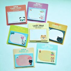 These fun sets of memo pads will make highlighting appointments and events more fun.  You have seven lovely designs to choose from, it measures approximately 7.5cm x 5cm and each set has 30 sheets.  #planner #organizedlife #plannerlove #planneraddict #plannerjunkie #plannergoodies #kikkik #kikkikplannerlove #kawaii #filofax #filofaxgoodies #stickynotes #mydecoratedbliss