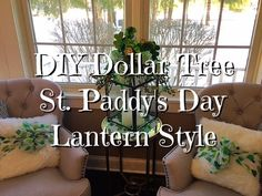 DIY Dollar Store St. Paddy's Day Lantern Style How-To
