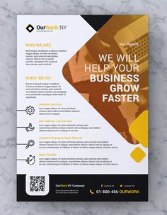 Creative Corporate Flyer Template AI, EPS, PSD - A4 format paper size. Download