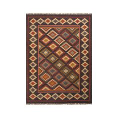 Traditional appeal suffuses this incredible Mix and Match Area Rug. Inspired by kilim patterns and featuring shades of rust red, blues, and golds, this area rug instantly perks up your stylish traditio...  Find the Mix and Match Area Rug, as seen in the The Archaeologist's Office Collection at http://dotandbo.com/collections/the-archaeologists-office?utm_source=pinterest&utm_medium=organic&db_sku=106850