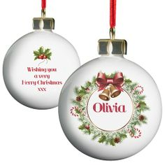 Personalised Traditional Christmas Bauble  from Personalised Gifts Shop - ONLY £10.99