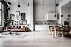 〚 Cool Scandinavian loft for a young family with a child 〛 ◾ Photos ◾Ideas◾ Design Scandinavian Interior Living Room, Modern Scandinavian Interior, Interior Design Living Room, Decoration Inspiration, Loft Design, Interior Exterior, Room Decor, Ideas, Young Family