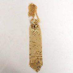 Necktie Tie Shaped Necklace Chain Pendant Gold