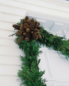 Mumzie's Place: Pinecone Rosette Garland Project for Front Door