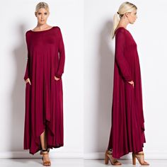"""Compass Rose"" Long Sleeve Maxi Dress Long sleeve maxi dress with pockets. PREORDER Bare Anthology Dresses Maxi"