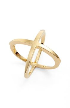 Free shipping and returns on Elizabeth and James 'Windrose' Ring at Nordstrom.com. Warm 23-karat gold plate brightens the intersecting bands of a striking crossover ring, subtly mixing polished shine with modern lines for a perfectly balanced statement.