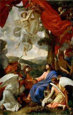 7d868accc0ec.jpg (900×1404) Шарль ЛЕБРЁН, Искушение Христа на горе (ок. 1653).