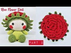 YouTube Cute Crochet, Crochet Hats, Amigurumi Tutorial, Doll Parts, Crochet Earrings, Nova, Dolls, Sewing, Flowers