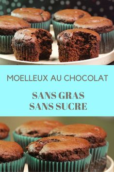 Recette : Le moelleux au chocolat sans beurre ni sucre Recipe: The chocolate cake without butter or B Food, Food Porn, Healthy Breakfast Recipes, Healthy Desserts, Cakes Without Butter, Cake Recipes, Vegan Recipes, Weight Watchers Meals, Food Cakes
