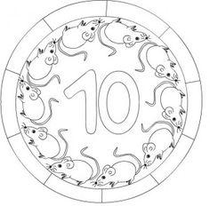 number 10 mandala coloring