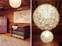 Gorgeous natural nursery design--LOVE the boss lady's work. Cabin Nursery, Rustic Nursery, Rustic Baby, Girl Nursery, Nursery Ideas, Nursery Inspiration, Bedroom Ideas, Baby Room Design, Nursery Design