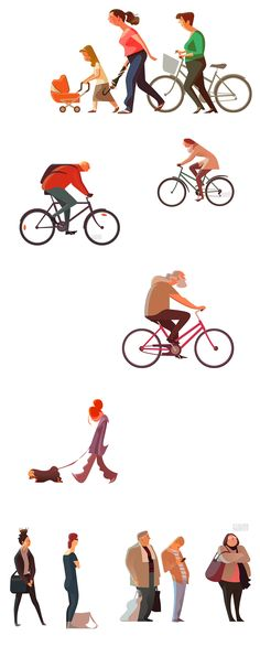 Commuters 2 by Sukanto Debnath - Amazing clean style! People Illustration, Flat Illustration, Character Illustration, Digital Illustration, Architecture People, Architecture Drawings, Cartoon People, Character Drawing, Character Design Inspiration