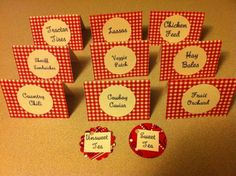Cowboy Western Party Food Labels Other Small Decor Items and Misc Card Stock | eBay