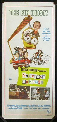 No Deposit, No Return Disney Movie Poster 1976