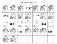 30 Day Fitness Challenge might make this 60 days and do each  day twice