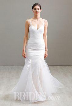 A fit and flare @jimhjelm wedding dress | Brides.com