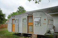 Vintage 1957 Yellowstone trailer - amazing original condition birchwood beauty - I'm in love with the interior!