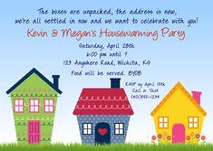 Cute housewarming party invitations $1.00 each http://www.festivityfavors.com/item_765/Housewarming-Party-Invitations.htm