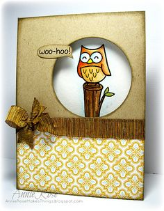 Woo-Hoo! A card made with stamps from Lawn Fawn by JammySage, via Flickr