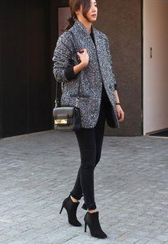 Herringbone textured jacket
