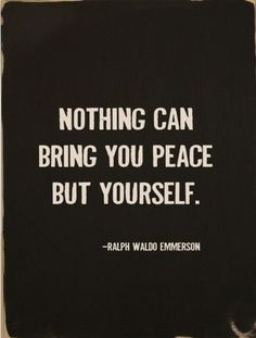 nothing can bring peace but...