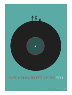 Music Is An Outburst Of The Soul Kunstdrucke von NaxArt bei AllPosters.de