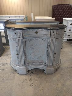 """Check out this amazing cabinet! I was thinking it would be a great WOW piece in the entryway but you could put it pretty much anywhere and get WOW comments about it :) What do you think?  The dimensions are 44"""" L, 15"""" W, 34"""" H. SOLD!! for $375"""