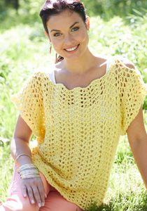 Caron International | Free Project | Crochet Scalloped Top #crochet #spring