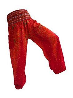 Lovely Pink Pants Yoga Harem Pants, Harem Trousers, Thai Fisherman Pants, Hippie Pants, Pink Pants, Indian, Stylish, Shopping, Fashion
