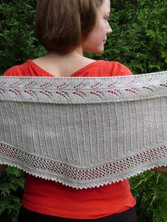 Ear of wheat shawl