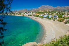 Long Beach in Koutsounari village, Ierapetra town, Lasithi Prefecture, Crete island, Greece Crete Island, Greek Islands, Science And Nature, Seaside, Travel Inspiration, Greece, Places To Visit, Explore, Landscape
