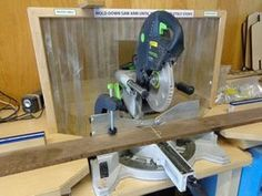 Picture of The Wooden Stand/frame Must Have Woodworking Tools, Woodworking Tools For Beginners, Woodworking Workshop, Woodworking Classes, Woodworking Jigs, Mitre Saw Dust Collection, Wooden Workshops, Mitre Saw Station, Table Saw Workbench