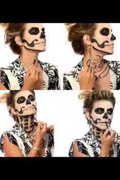 33 Totally Creepy Makeup Tutorial To Try This Halloween#Halloweentip