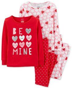 """Toddler Girl Carter's """"Be Mine"""" All Over Hearts Tops & Bottoms Pajama Set Carter Kids, Girls Pajamas, Plus Size Activewear, Cotton Pyjamas, Dresses With Leggings, Girls 4, Pajama Set, Toddler Girl, Lounge Wear"""