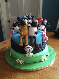 Shaun the Sheep Shaun The Sheep, Birthday Cake, Cakes, Desserts, Food, Tailgate Desserts, Deserts, Cake Makers, Birthday Cakes