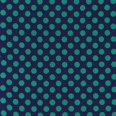 Michael Miller House Designer - Dots - Ta Dot in Midnight