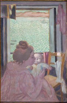 Maternité à la fenêtre (au Pouldu). Maurice Denis, vers 1899