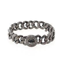 Marc by Marc Jacobs Womens Katie Brass Turnlock Bracelet Gray OS