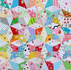 Red Pepper Quilts: Kaleidoscope Block and Free Foundation Paper Piecing Pattern