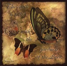 Butterfly Sentiments...The Earth