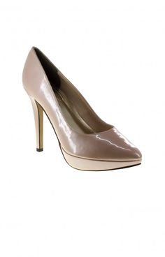The adorable pump is perfect for your shoe-fetish! This champagne shoe is great for the work week or night out! We love the simple design that makes a lasting impression! 4 inches.