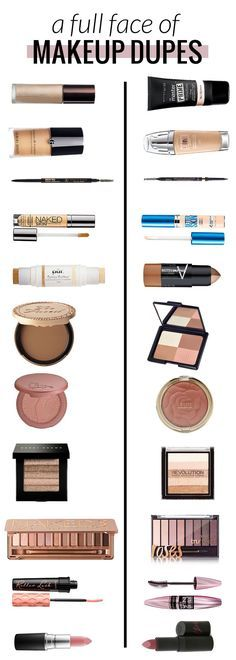 A Full Face of Makeup Dupes – Half High End, Half Drugstore