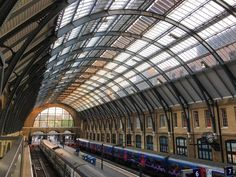 My final shot #London King's Cross #railway #station. I love these cavernous arches. Through the roof at the end you can just make out St. Pancras Station #building. #architecture #travel #tourism #tourist #train #transport #IgersLondon #England #leisure #life