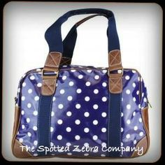 Blue Polka Dot Travel/Weekend Bag