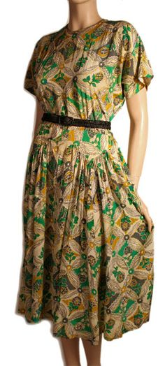 1940s Vintage Suzy Perette Dress at Ballyhoo Vintage Clothing : cocktail ...