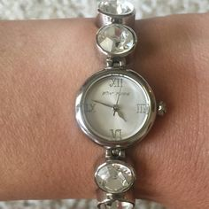 Betsey Johnson Watch Silver Betsey Johnson women's watch. Needs a new battery but is otherwise in PERFECT condition! ⌚️ Betsey Johnson Jewelry