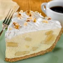 Gone Bananas Pie. Made this tonight, and the filling is wonderful. A nice change from banana pudding.