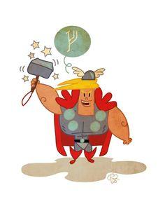 Thor, God Of Thunder by rybb (facebook.com/rybbs)