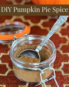 Homemade Pumpkin Pie Spice Recipe  http://thecoconutmama.com/pumpkin-pie-spice-recipe/